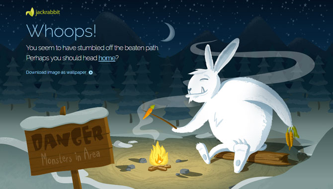 Jumping Jack Rabbit 404 page